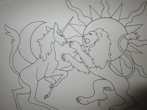 Lune et licorne