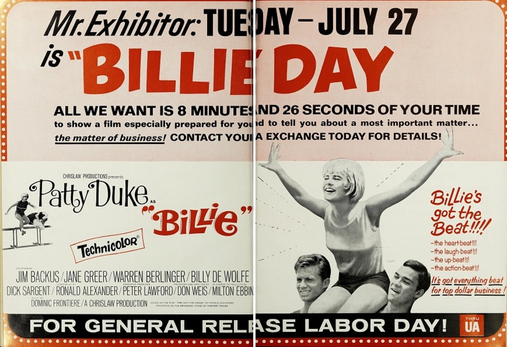 BILLIE BOX OFFICE USA 1965