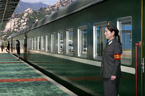 Le train de Kim Jong Il, dispose de gares privées dans tous le pays