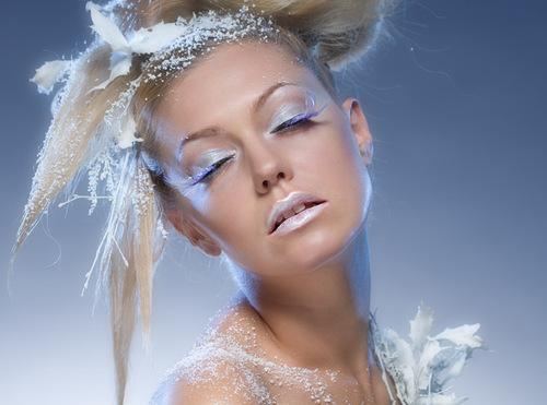 Maquillage et regard de fêtes