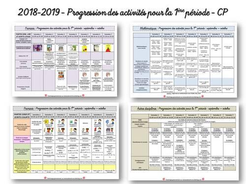 2018-2019 progressions pour la 1ère période