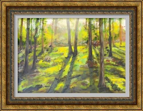 Dessin et peinture - vidéo 2903 : Comment peindre un sous-bois paisible et lumineux ? acrylique ou huile.