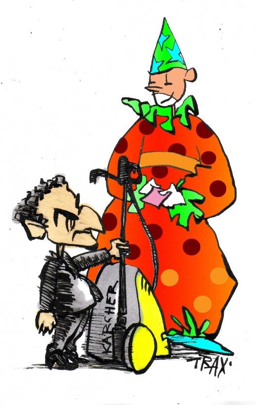 déchet électrique cirque Sarkozy Deeeglingues.com