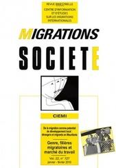 Genre, filières migratoires et marché du travail, Philippe Rygiel et Manuela Martini