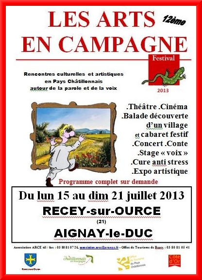 """""""Les Arts en Campagne"""", animations proposées par l'Association ARCE de Recey sur Ource"""