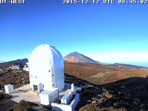 Une vue différente du Mont Teide, le 12 décembre 2015