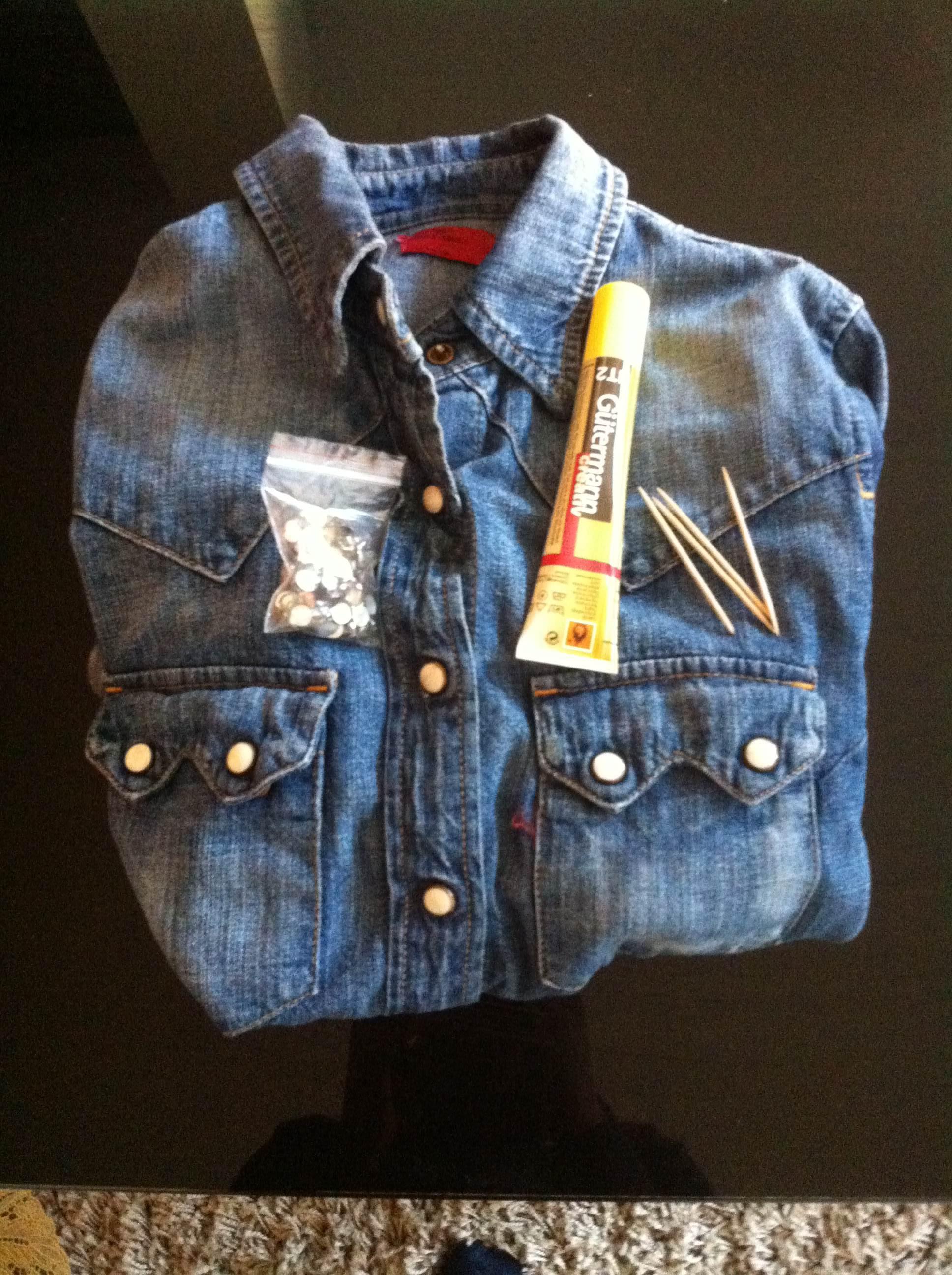 Fabulous Do it yourself : customiser sa chemise en jean - Deltreylicious CN33
