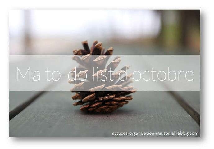 ✿ Ma to-do list d'octobre