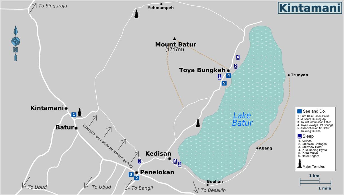 kintamani batur indonésie