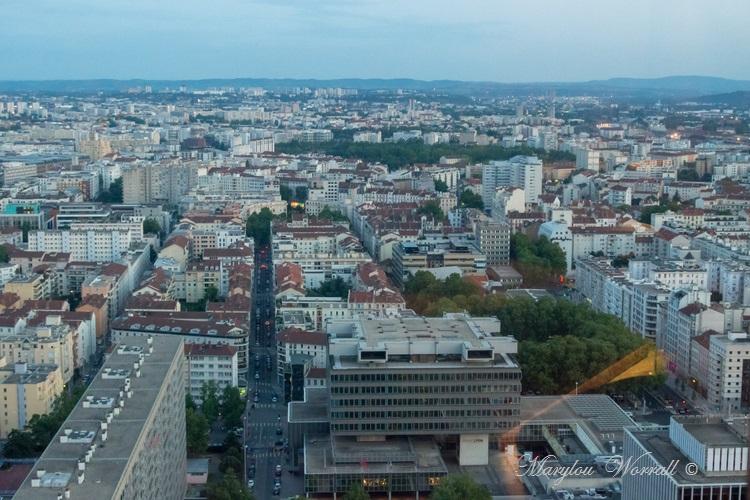 Lyon : Vue sur la ville depuis la Tour Part-Dieu