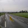je quitte la vallée du Loir sous la pluie
