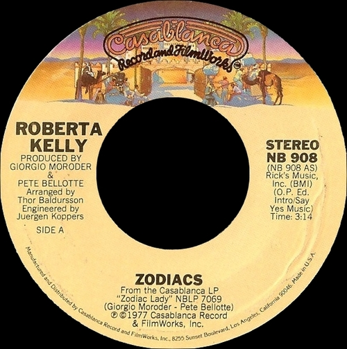 "Roberta Kelly : Album "" Zodiac Lady "" Casablanca Records NBLP 7069 [ US ]"