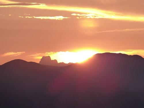 Lever de soleil au sommet de Dormillouse