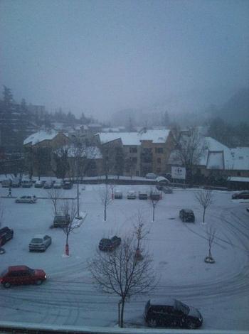 Marvejols sous la neige