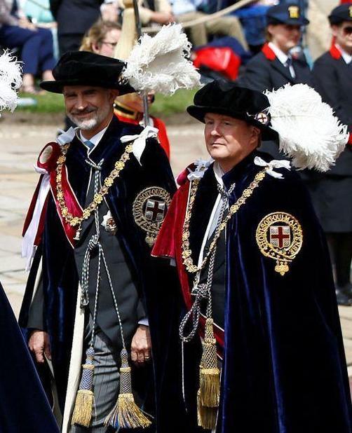 """Willem et Felipe sont devenus membres de """"the Most Noble order of the Garter"""""""