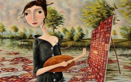 femme-peignant-500x312