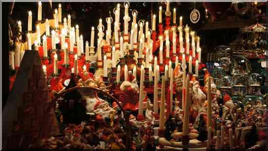 Noël marché de Noël en Alsace bougies décorations