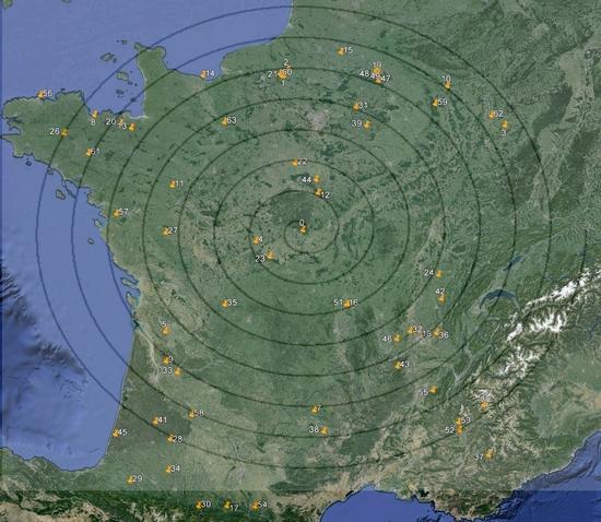 Carte avec spirale au 31 janvier 13
