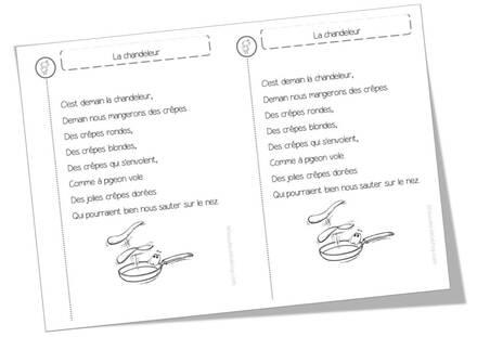 Poèmes Chandeleur et crêpes