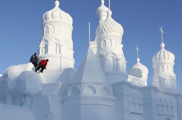 Un château de neige à la Vasaloppet chinoise