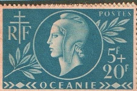 * La culture à travers les timbres poste - une exposition concernant la France libre