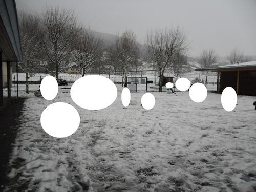 la neige à l'école...