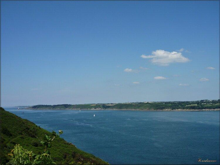 Photo du goulet de Brest côté Pointe des Espagnols