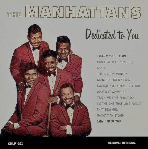 "The Manhattans : Album "" Dedicated To You "" Carnival Records CMLP-201 [ US ]"