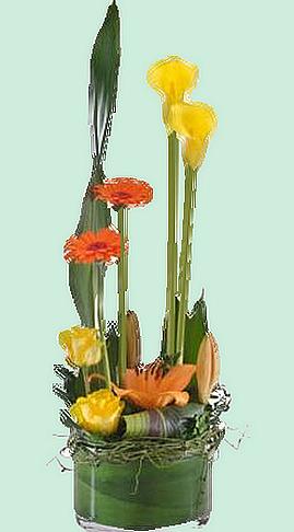 Tube composition florale pour Créas
