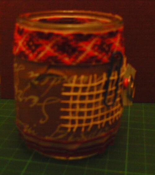 petits pots décorés en scrap