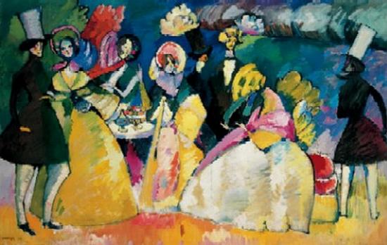 Wassily Kandinsky, Groupe en Crinoline, 1909