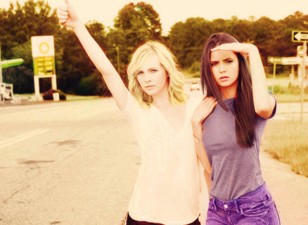 awesome, Nina Dobrev, two girls, Vampire Diaries, candice accola, so beautiful