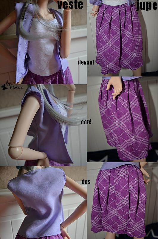 Veste & Jupe plissée