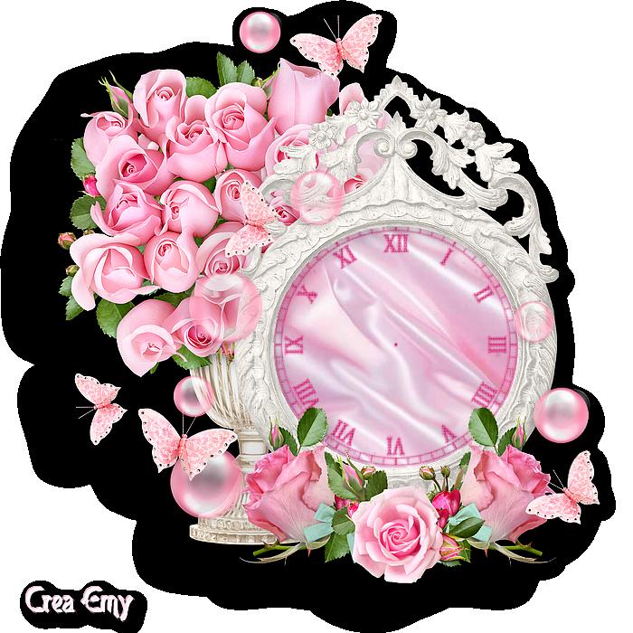 Horloge pour créa flash roses