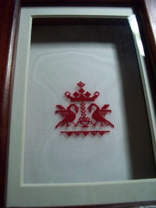 Symbole alsacien sur gaze de soie