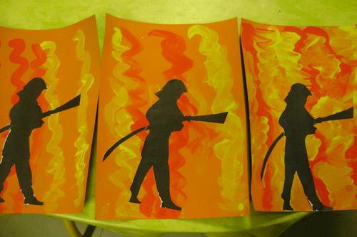Bricolage et peinture pompiers