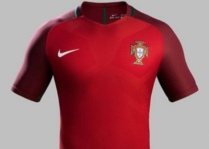 Personnaliser Nouveau Maillot Portugal Domicile Euro 2016