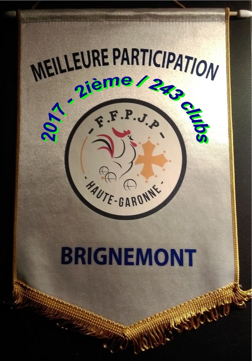 Palmares du Pétanque Club Brignemontois