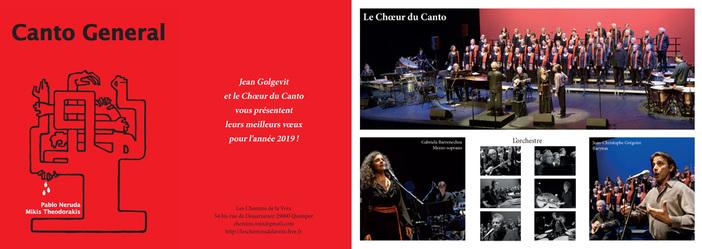 Jean Golgevit et le Chœur du Canto vous présentent leurs meilleurs vœux pour l'année 2019!