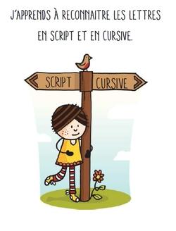Correspondance script-cursive