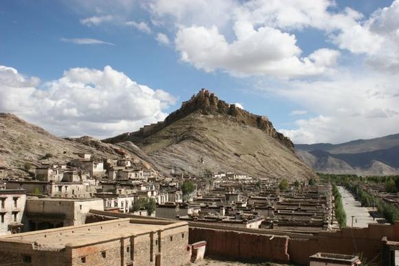 visite à Gyantse; la citadelle;
