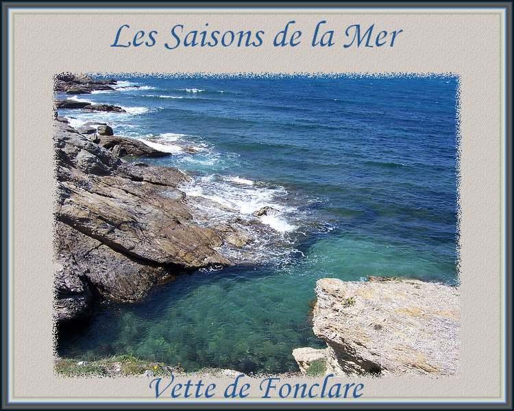 """"""" Les saisons de la mer """"  poème de Vette de Fonclare"""