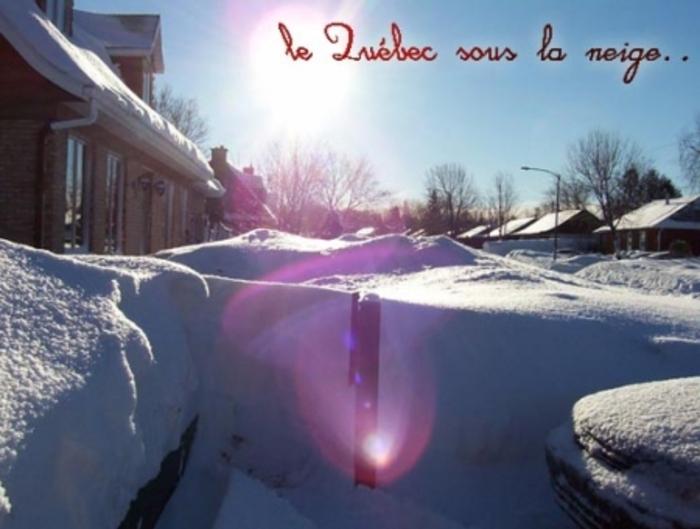 Le Québec sous la neige