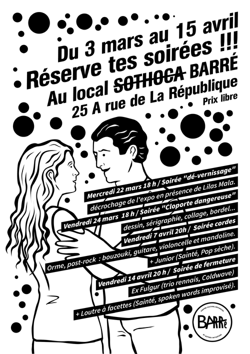 Affiche 02 pour le local Barré