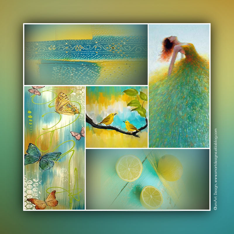 Yellow - Aqua