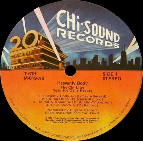"The Chi-Lites Featuring Gene Records : Album "" Heavenly Body "" 20th Century Fox Chi Sound Records T-619 [ US ]"