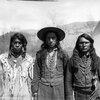 L-R Unidentified (Kootenai), unidentified (Flathead), unidentified (Flathead) - 1902