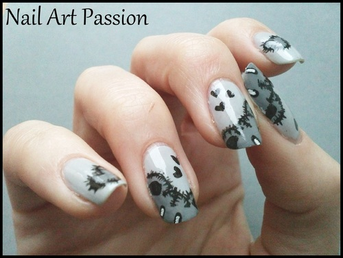 Nail art Teddy Bear - Ourson mignon !