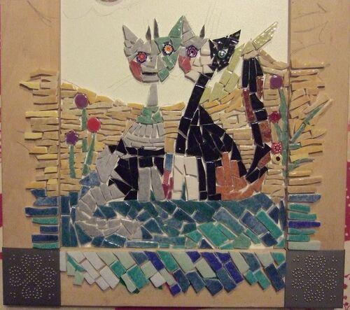 Des chats dans le style de ceux de Rosina Wachtmeister.
