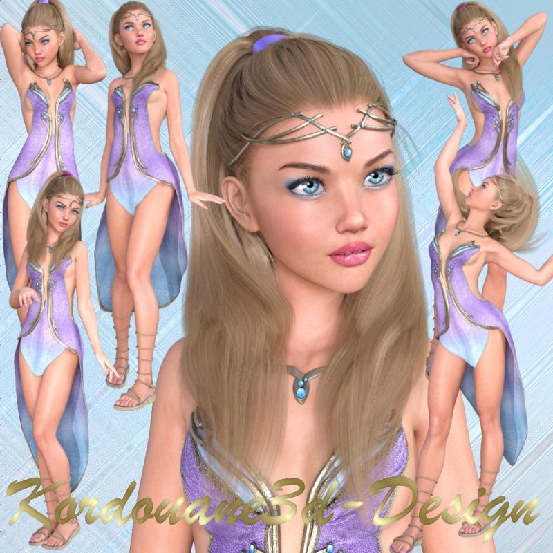 Philippine fille elfe (tube-poser)